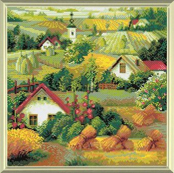 Serbian Landscape - Diamond Painting Mosaic Kit