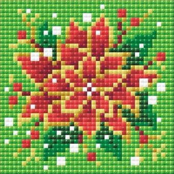 Poinsettia - Diamond Mosaic Christmas Embroidery Kit