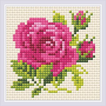 Pink Rose - Diamond Painting Mosaic Kit
