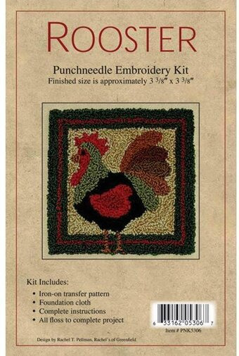 Rooster Punchneedle Kit