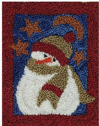 Midnight Snowman Punchneedle Kit