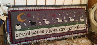 Count Some Sheep with charm - Cross Stitch Pattern