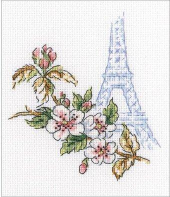 Counted Cross Stitch Kit RTO On the streets of Paris