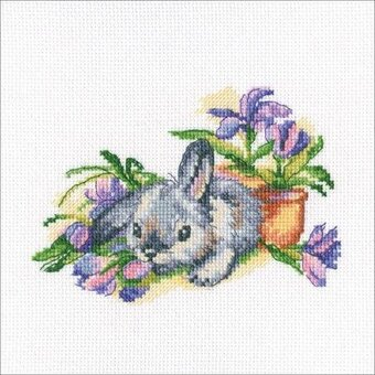 Eared and Curious Rabbit - Cross Stitch Kit