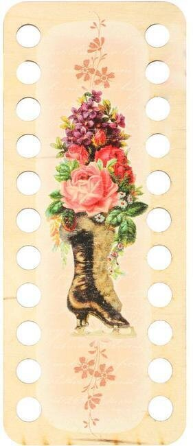 Buratini Thread Organizer - Boot With Flowers II