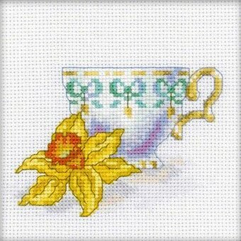 Daffodil Tea Party - Cross Stitch Kit