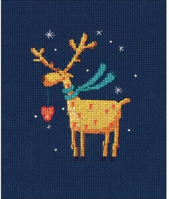 Golden Deer - Christmas Cross Stitch Kit