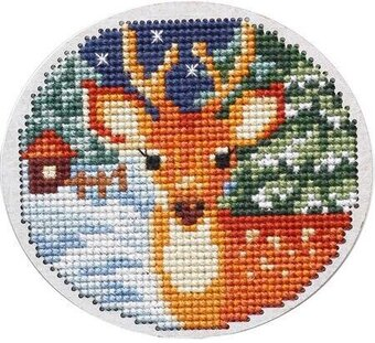 Winter Deer - Wooden Cross Stitch Kit