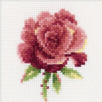 Red Rose - Cross Stitch Kit