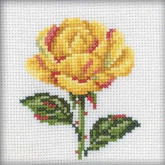 Yellow Rose - Cross Stitch Kit