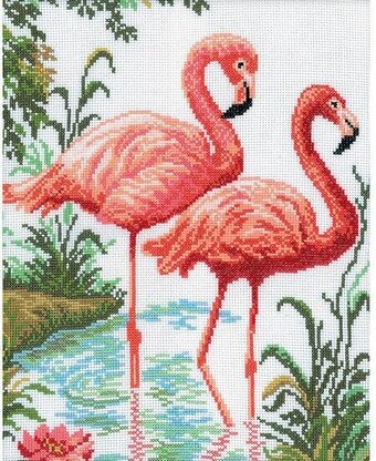 Flamingos - Cross Stitch Kit