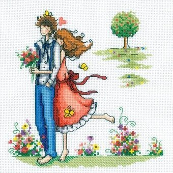 Couple In The Park - Cross Stitch Kit