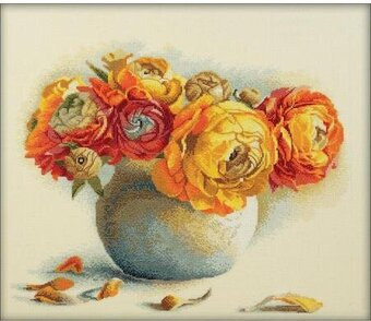 Bouquet Of Ranunculuses - Cross Stitch Kit