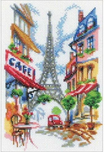 Quiet Corner Of Paris - Cross Stitch Kit