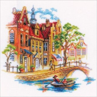 Touring Amsterdam - Cross Stitch Kit