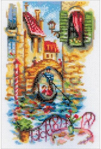 Picturesque Canals Of Venice - Cross Stitch Kit