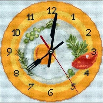 It's Breakfast Time Clock - Cross Stitch Kit