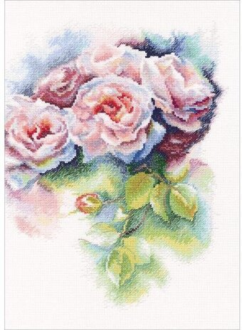Pink Bliss Flowers - Cross Stitch Kit