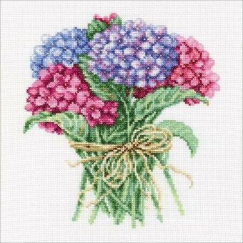 Hydrangea Bouquet - Cross Stitch Kit