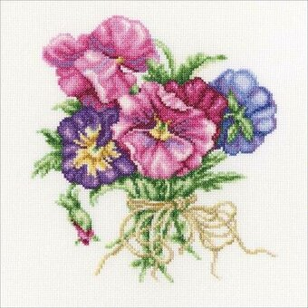 Violets Bouquet - Cross Stitch Kit