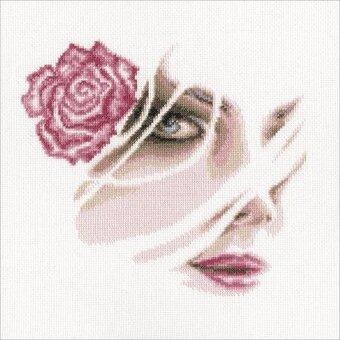 Coral Rose - Cross Stitch Kit