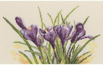 Spring Crocuses - Cross Stitch Kit