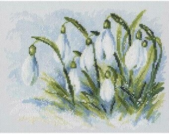 Early Snowdrops - Cross Stitch Kit