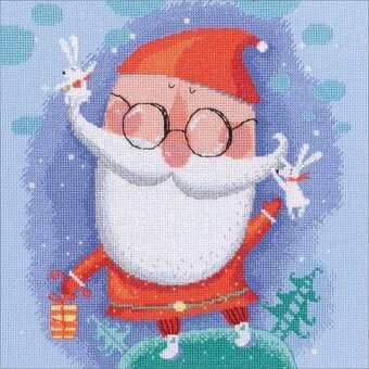 Cheerful Santa - Christmas Cross Stitch Kit