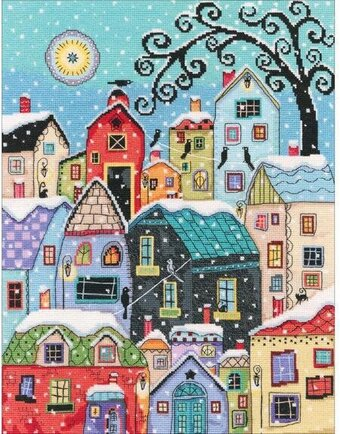 Snow Falling - Cross Stitch Kit