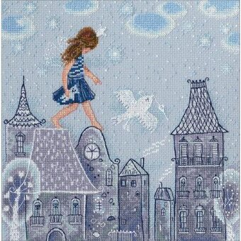Fairy Tales Live On Roofs - Cross Stitch Kit