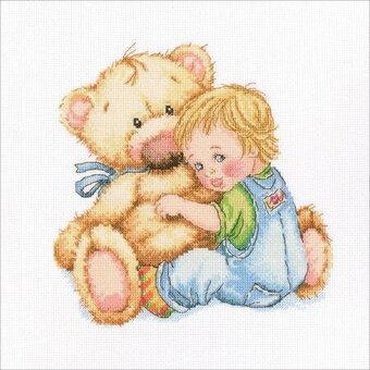 Beloved Teddy - Cross Stitch Kit