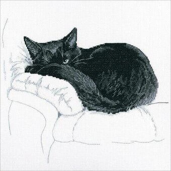 Among Black Cats - Cross Stitch Kit