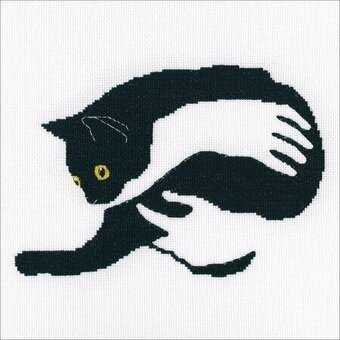 Among Black Cats 2 - Cross Stitch Kit
