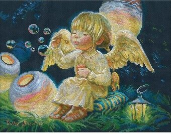 Sky Lanterns Angel - Cross Stitch Kit