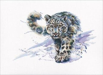 Snow Leopard - Cross Stitch Kit