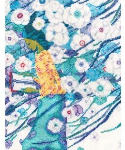 Rhymes Through the White Flowers - Cross Stitch Kit