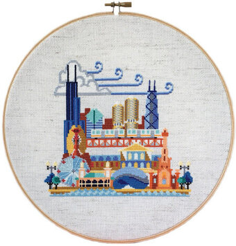 Pretty Little Chicago - Cross Stitch Pattern