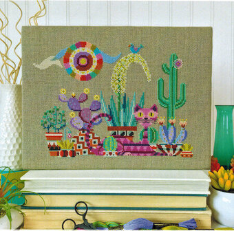 Cactus Cat - Cross Stitch Pattern