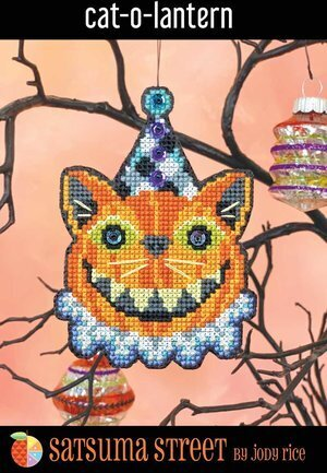 Cat-O-Lantern - Cross Stitch Kit