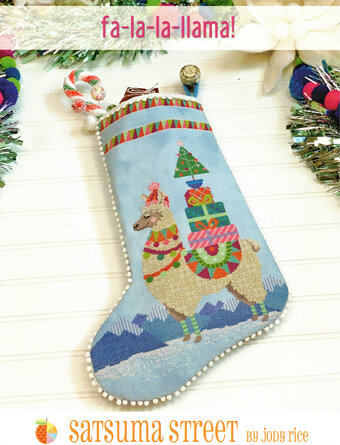 Fa-La-La Llama! Stocking - Cross Stitch Pattern