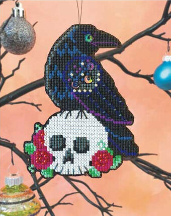 Nevermore Halloween Ornament - Cross Stitch Kit
