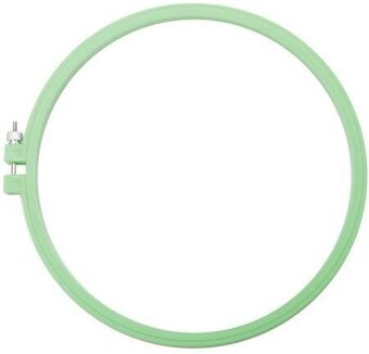 Susan Bates Plastic Deluxe Super Grip Embroidery Hoop 6-inch Hoop Light
