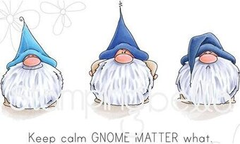 Gnomes Have Feelings Too - Cling Rubber Stamp