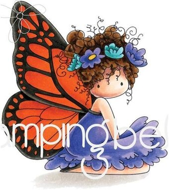 Bess The Butterfly - Cling Rubber Stamp