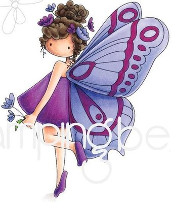 Brianna The Butterfly - Cling Rubber Stamp