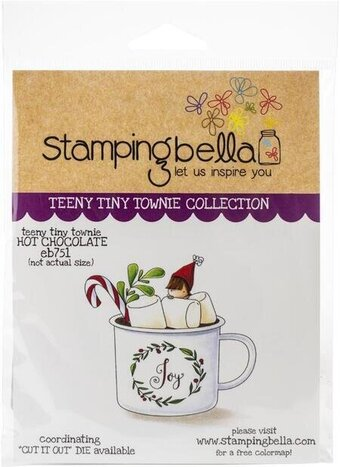 Teeny Tiny Townie Hot Chocolate - Christmas Cling Stamp