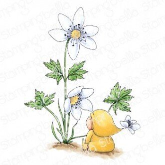 Bundle Girl With A Wood Anemone - Cling Stamp