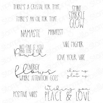Good Vibes Sentiment Set - Cling Stamp