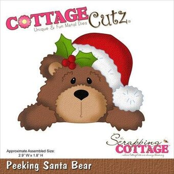 CottageCutz Peeking Santa Bear Christmas Die