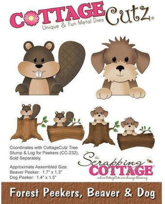 CottageCutz Forest Peekers Beaver and Dog Die